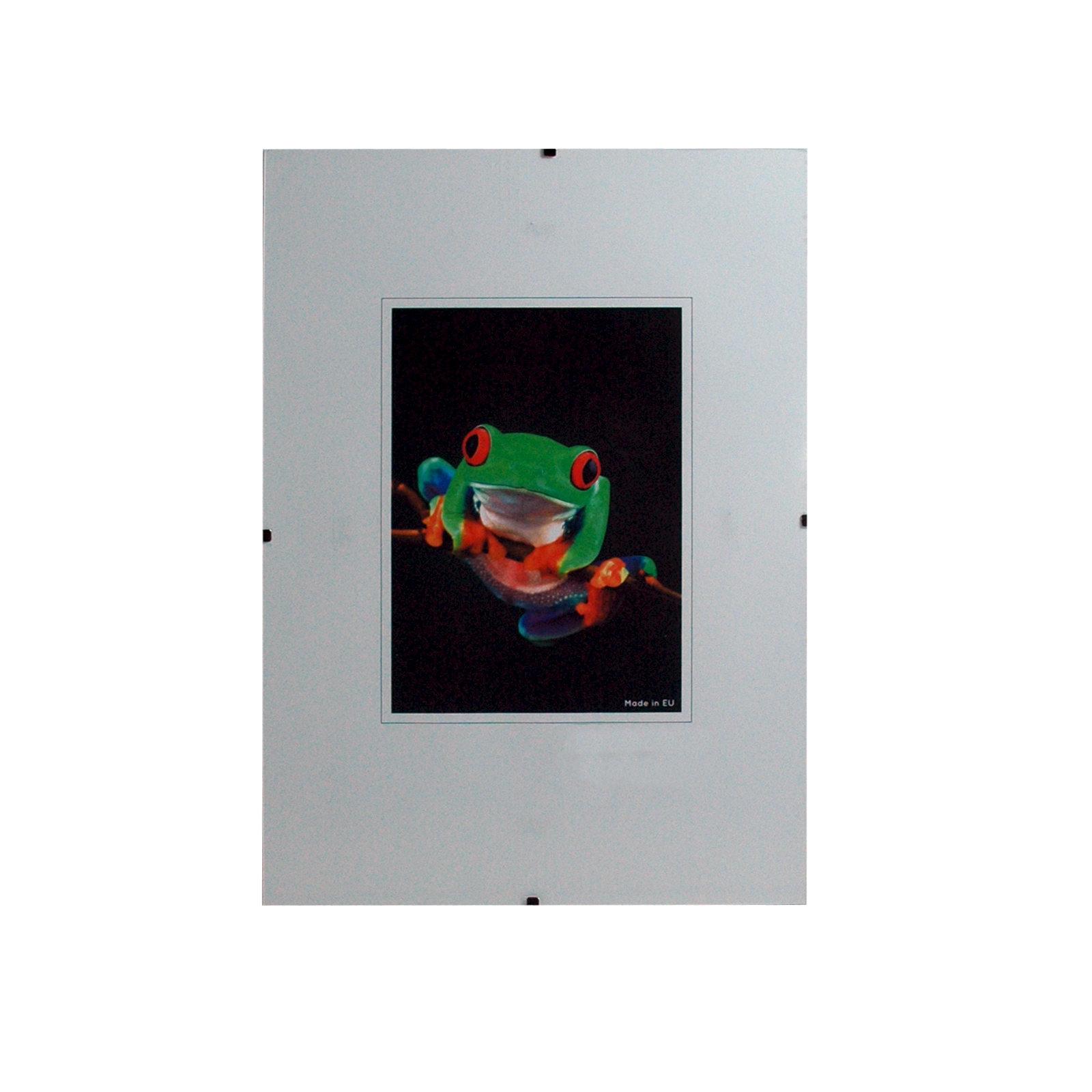 Holder imagen sin marco con el vidrio del arte claro, 1,0 mm de ...
