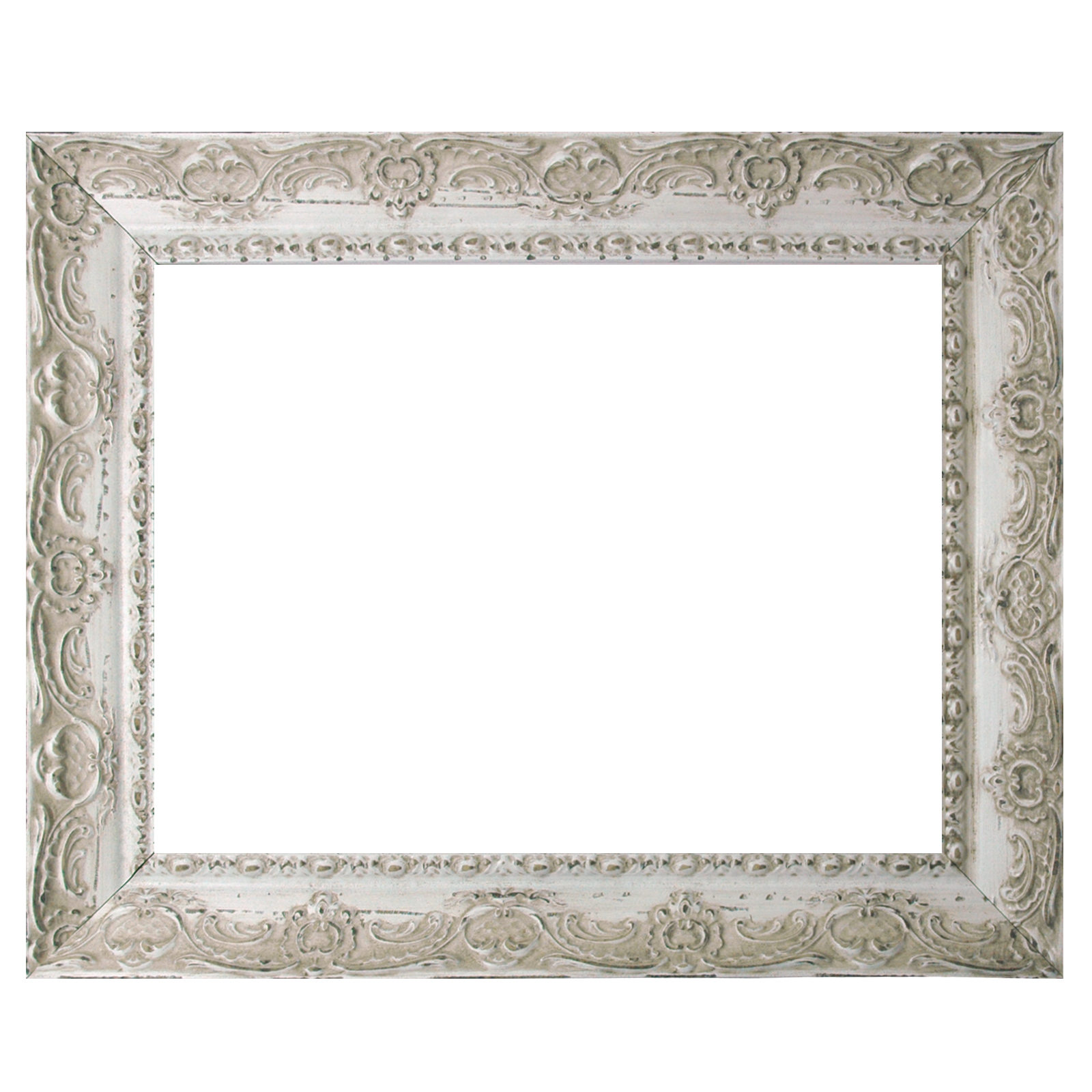 Baroque Frame White Fine Decorated 543 AVO Various Variations 18x24 ...