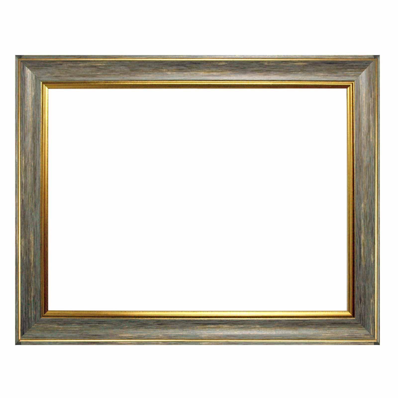 Marco barroco 10941, 247 GRI gris con oro, en blanco, marco vacío ...