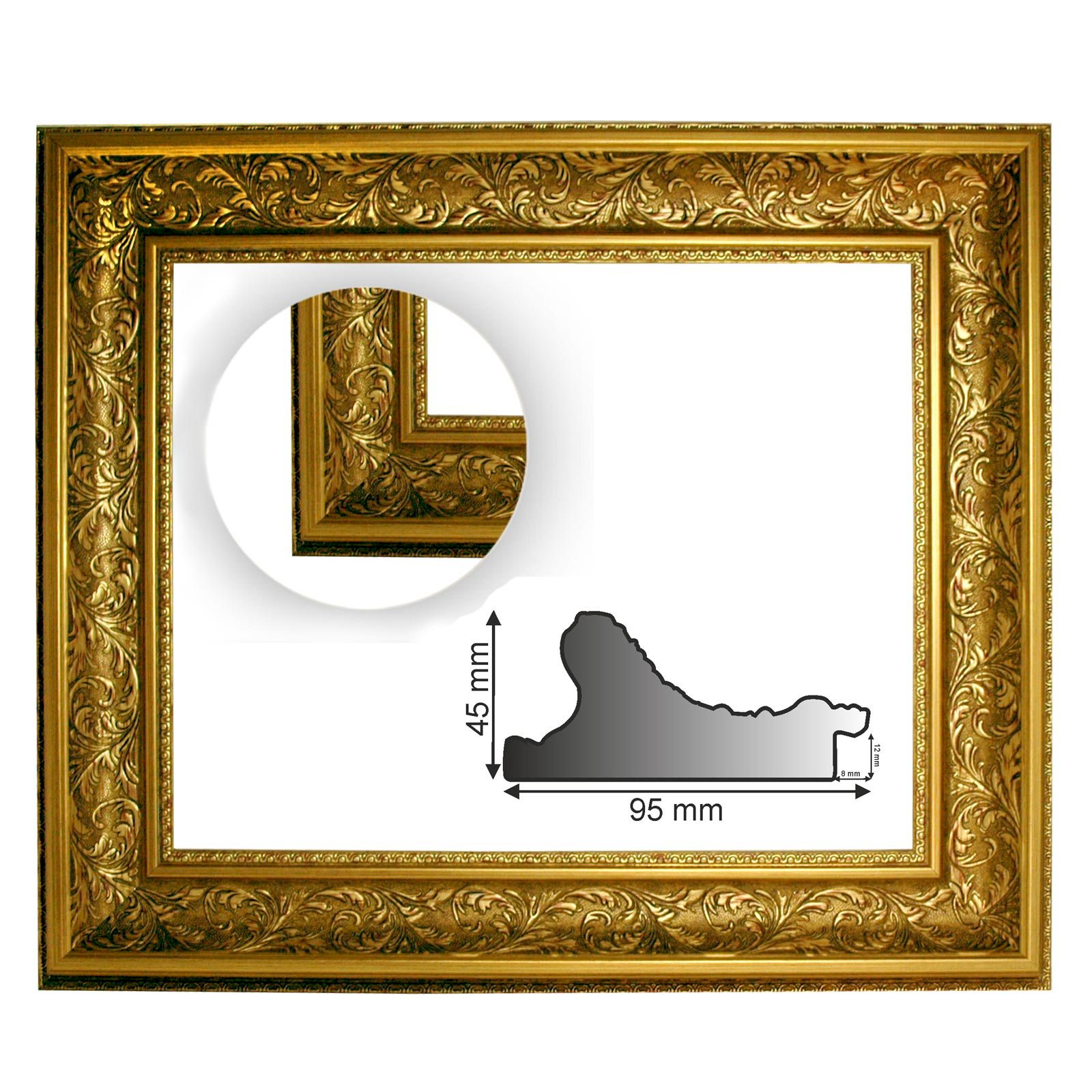 Baroque Frame 10943, Oro Gold Decorated, Series 992, as Cut, EMPTY ...