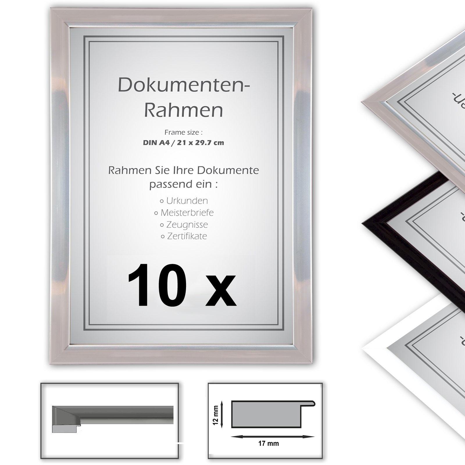 10 x urkundenrahmen din a4 21x29 7 fotorahmen. Black Bedroom Furniture Sets. Home Design Ideas
