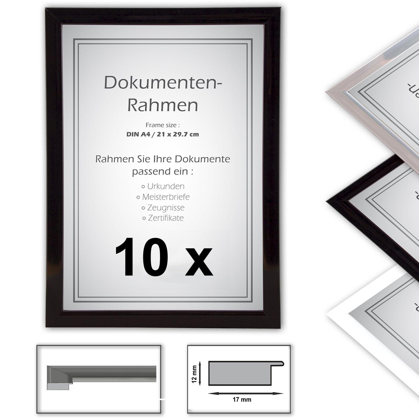 10 x A4 marco Certificado, 21x29,7 marcos de fotos, marcos de la ...