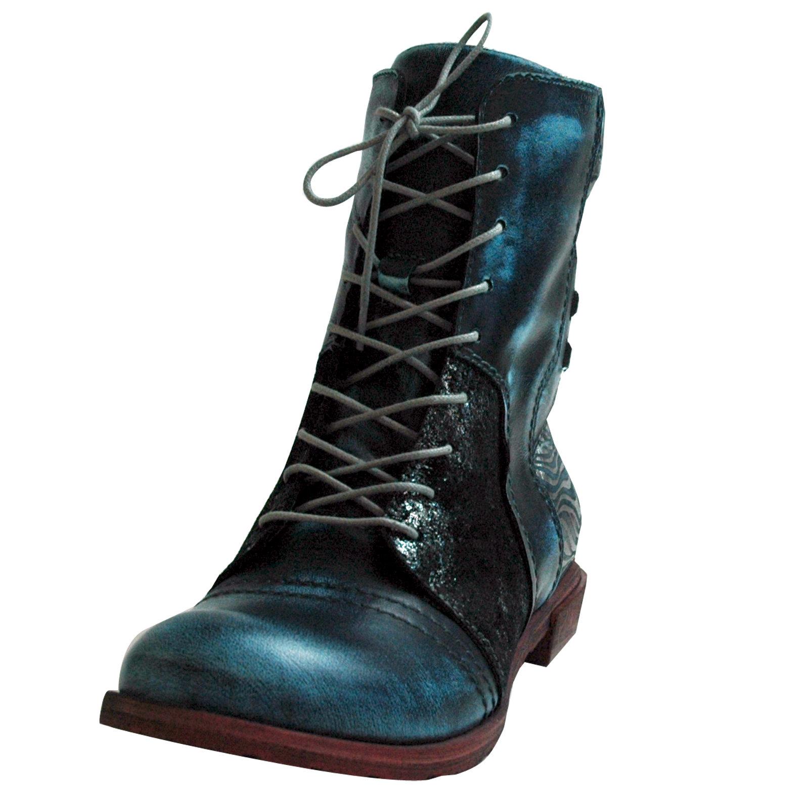 Simen Ladies Lace-Up Ankle Boots 9767