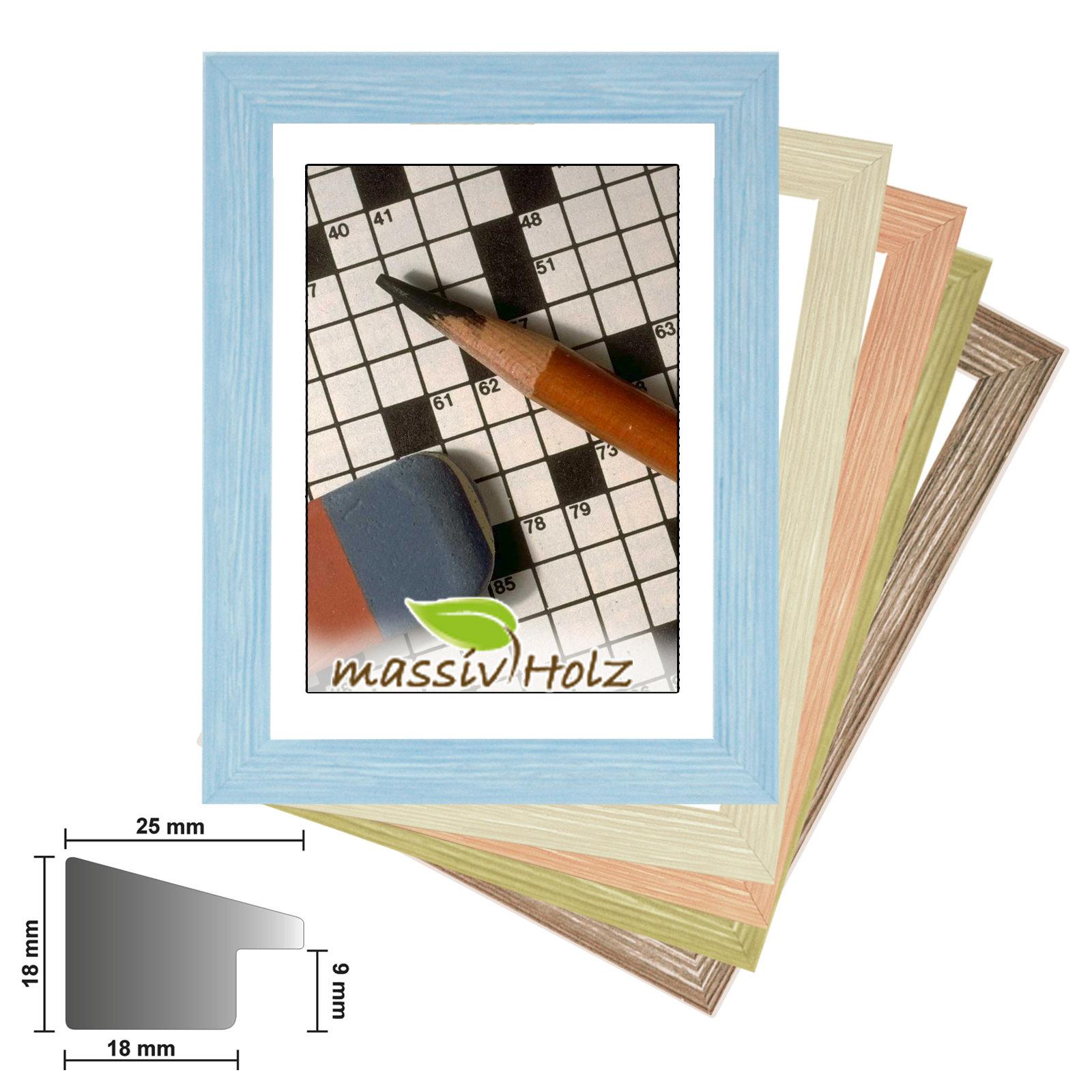 Wechselrahmen TEXAS Bilderrahmenn Holz, Fotorahmen in 5 Farben | eBay
