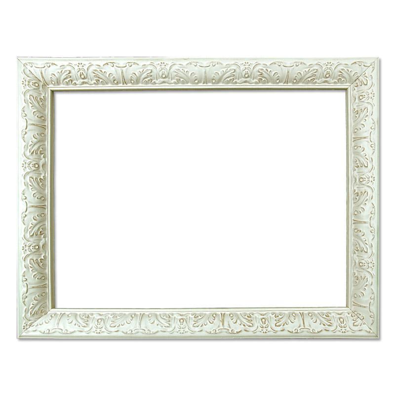 Barockrahmen BA1082, weiß verziert, weißer barocker Rahmen | eBay