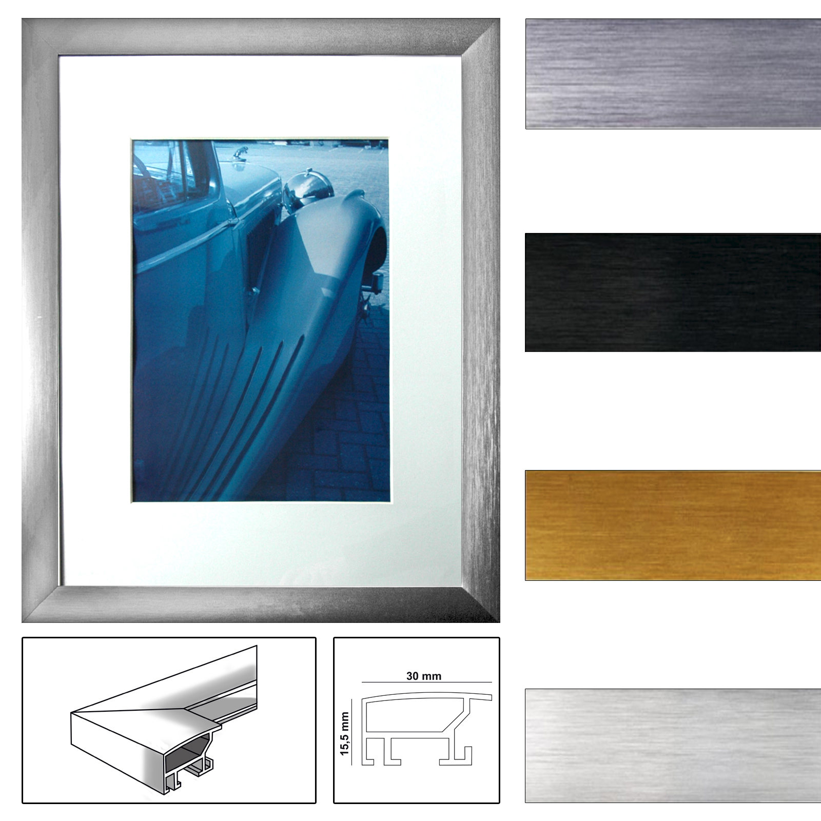 henzo aluminiumrahmen luzern verschiedene farben und. Black Bedroom Furniture Sets. Home Design Ideas