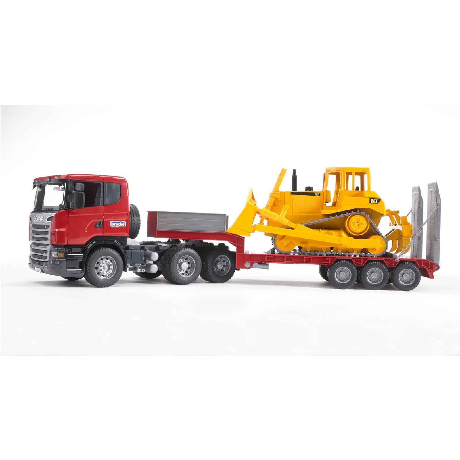 SCANIA R-Truck avec chargeur surbaissé et et et bulldozer Cat®  alta calidad y envío rápido