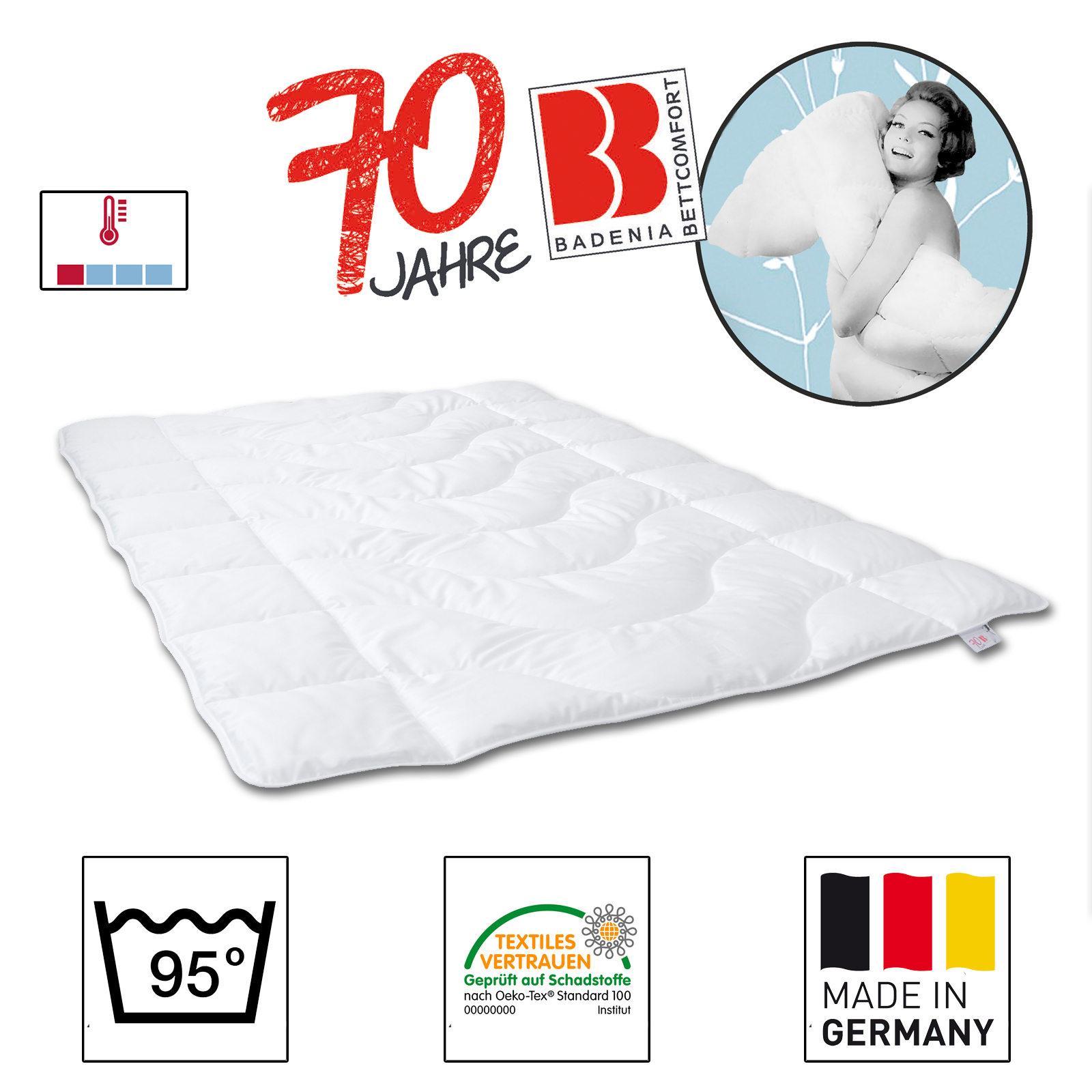 badenia steppbett leicht k rperzone microfaser wei 100 polyester hohlfaser ebay. Black Bedroom Furniture Sets. Home Design Ideas