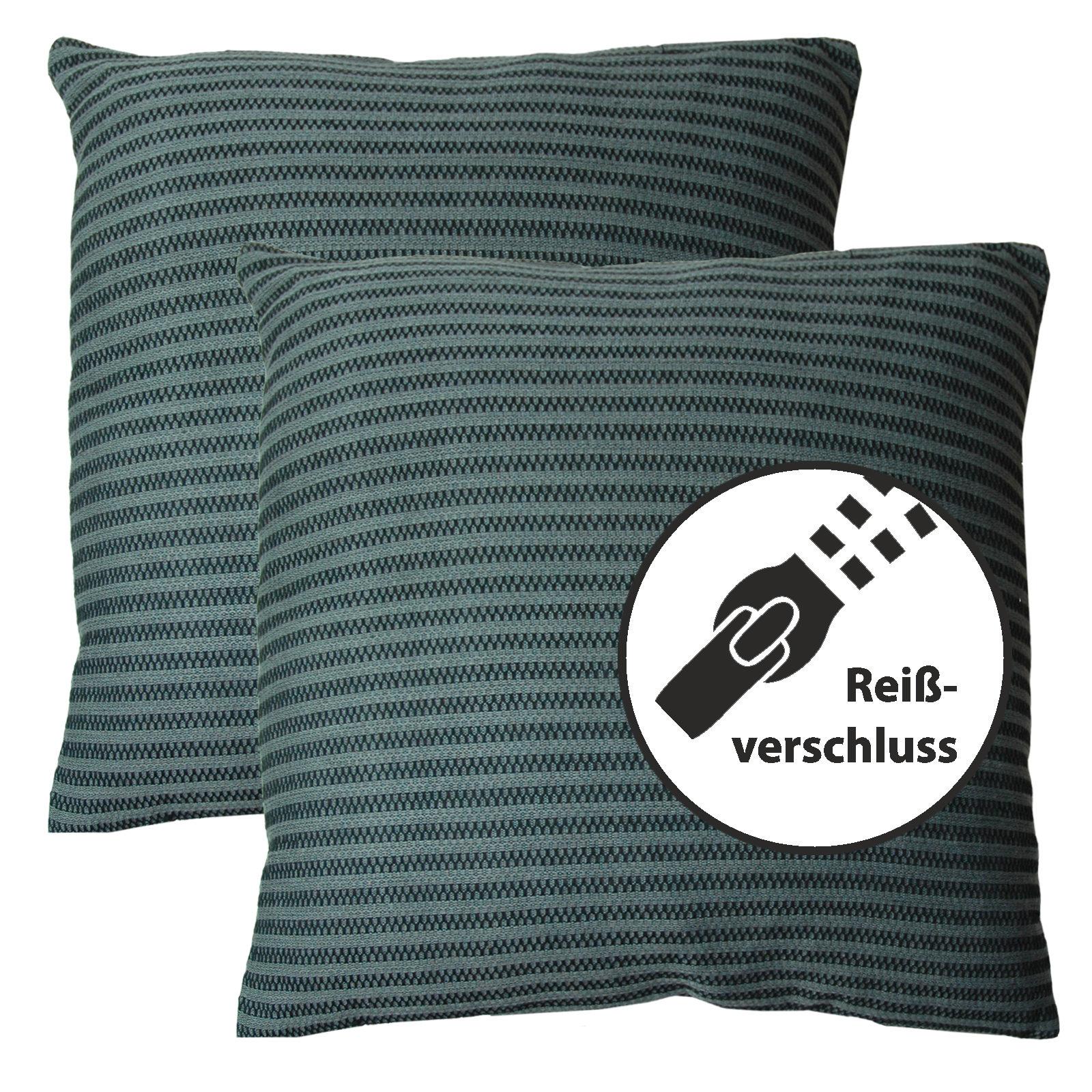 dekokissen sofakissen 45x45 zierkissen couchkissen kissen deko 2er set ebay. Black Bedroom Furniture Sets. Home Design Ideas