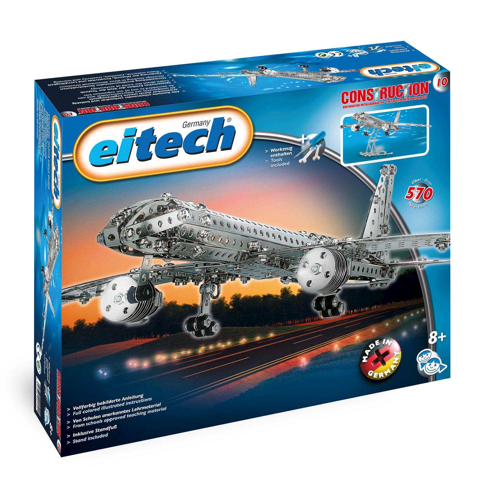 Eitech Metal Construction Sets Aeroplane 13 13/16X11 1/2x3 5/32in ...