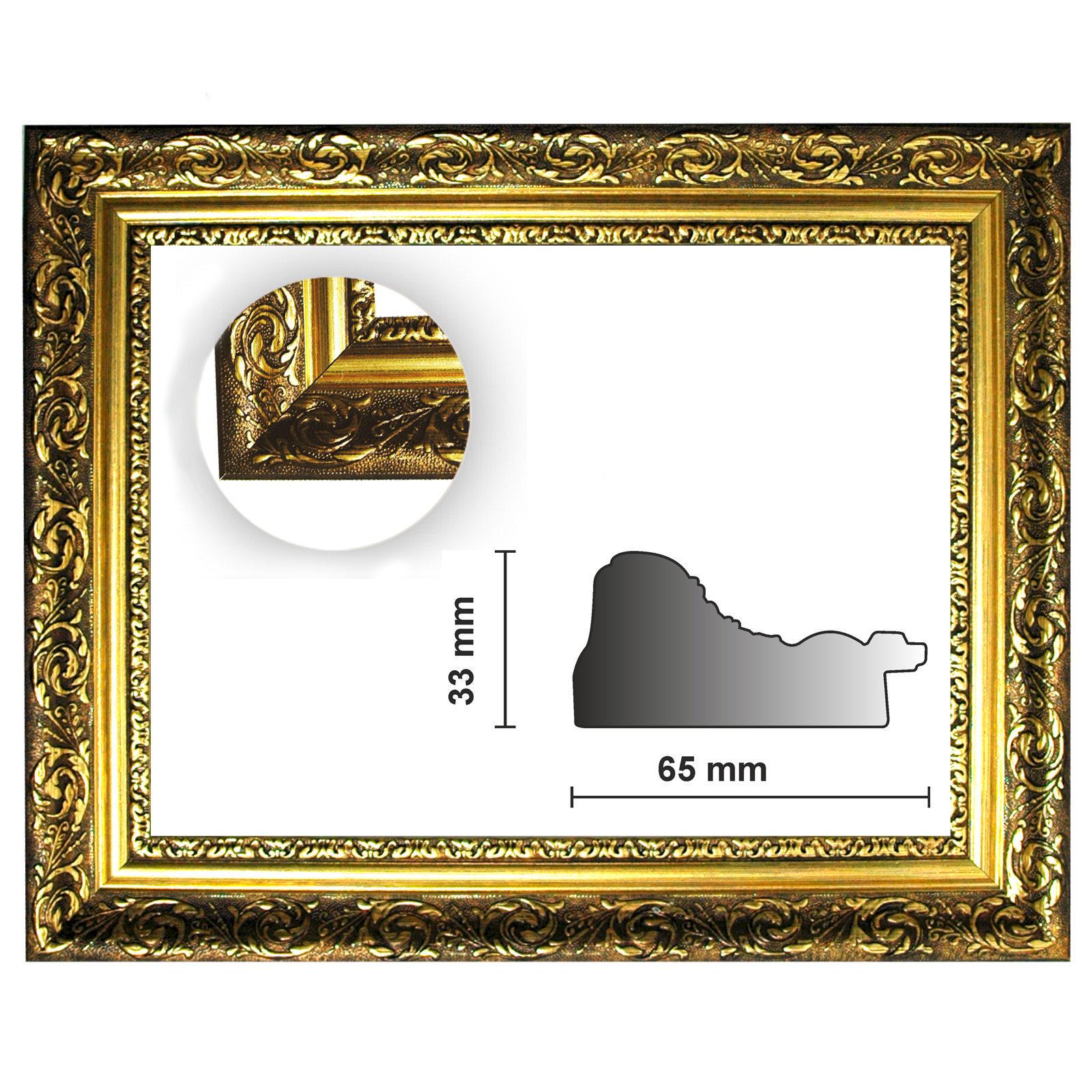 Barockrahmen gold fein verziert 840 ORO, Goldrahmen, Bilderrahmen ...