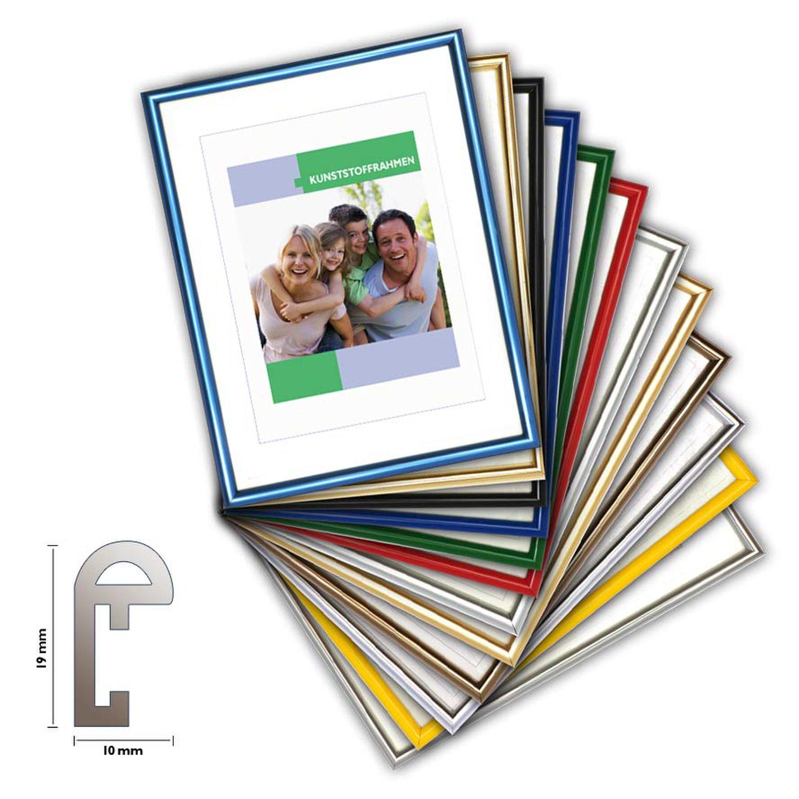 Kunststoffrahmen CLASSIC, Bilderrahmen kunststoff 14 Farben ...