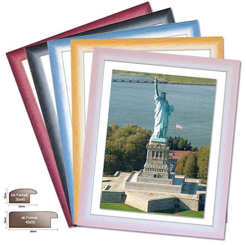 Holzrahmen NEW YORK, in 5 Farbenverläufen, Bilderrahmen Holz ...